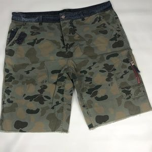 MEN'S BUFFALO DAVID BITTON ARMY FATIGUE SHORTS 40